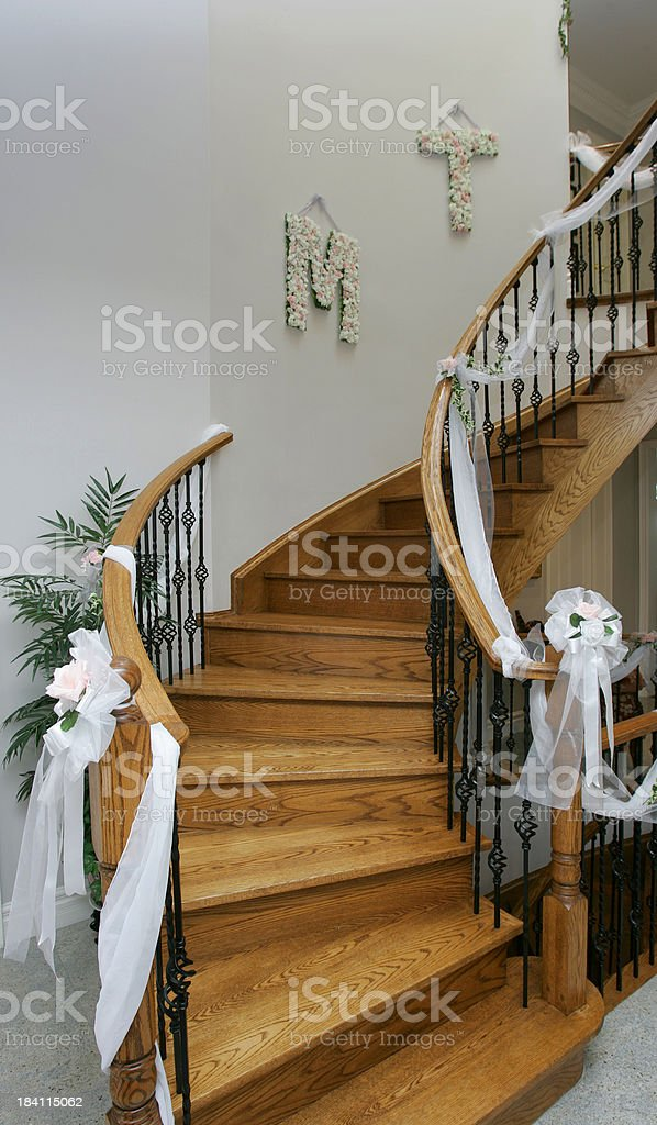 Decorated Grand Stairs. royalty-free stock photo