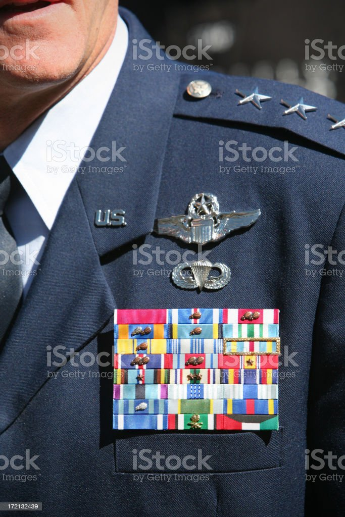 Decorated High Ranking Officer royalty-free stock photo