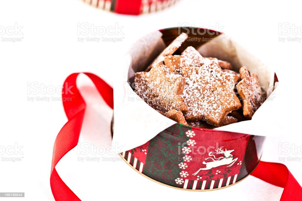 Decorated Holiday Christmas Cookies And Biscuits royalty-free stock photo