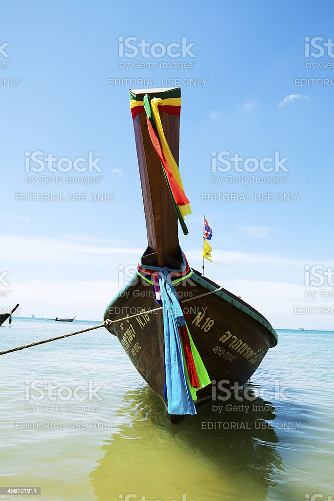 Decorated longboat royalty-free stock photo