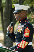 Decorated Marine Gives Keynote Speech at a Veteran's Day Cermony