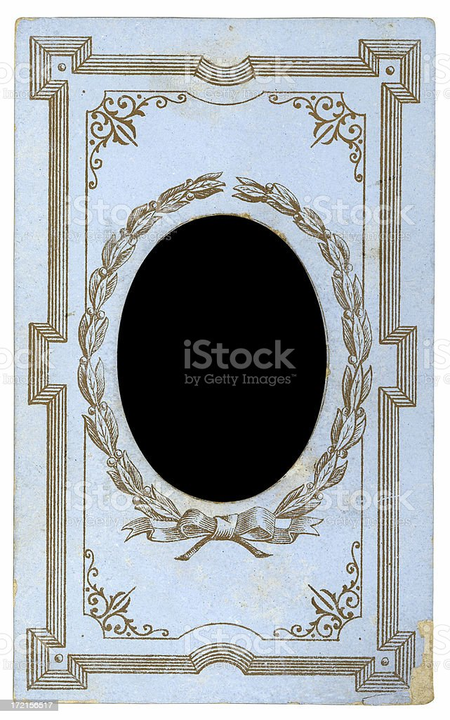 decorated picture frame royalty-free stock photo
