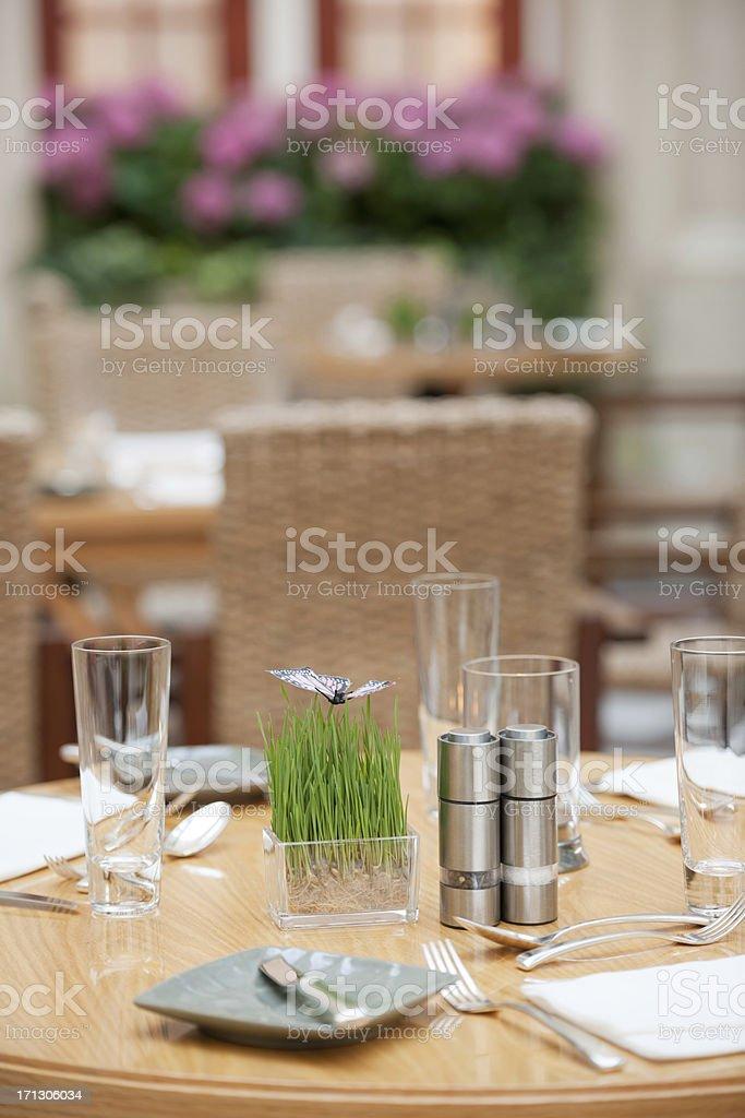 Decorated Restaurant Tables, Rome, Italy (XXXL) royalty-free stock photo