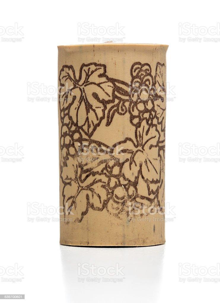 decorated rubber wine cork stock photo
