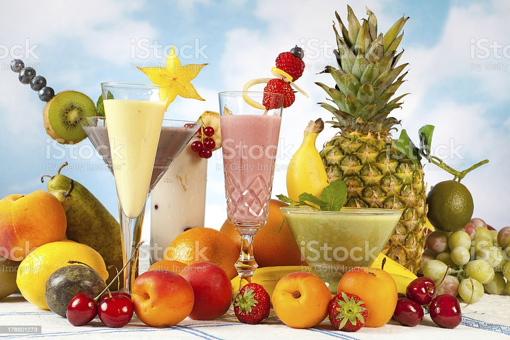 Decorated smoothies royalty-free stock photo