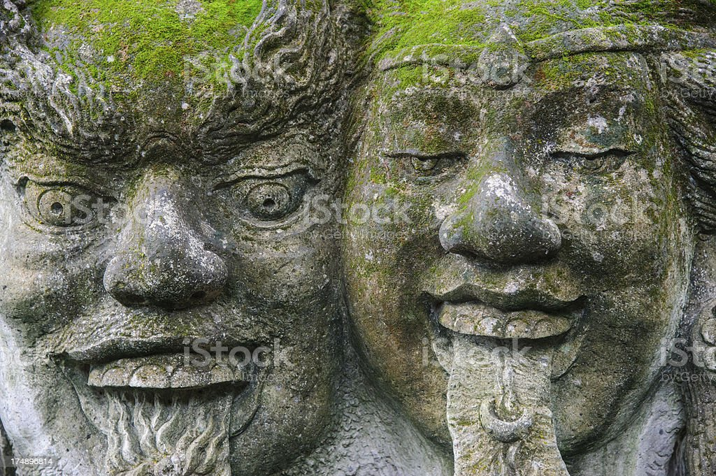 Decorated Stone Carving in Indonesia royalty-free stock photo