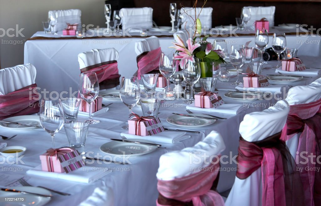 Decorated Table stock photo