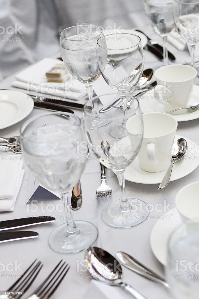 Decorated table. royalty-free stock photo