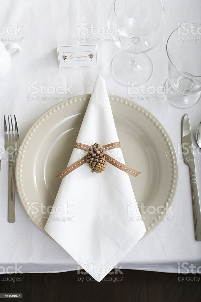 Decorated table royalty-free stock photo