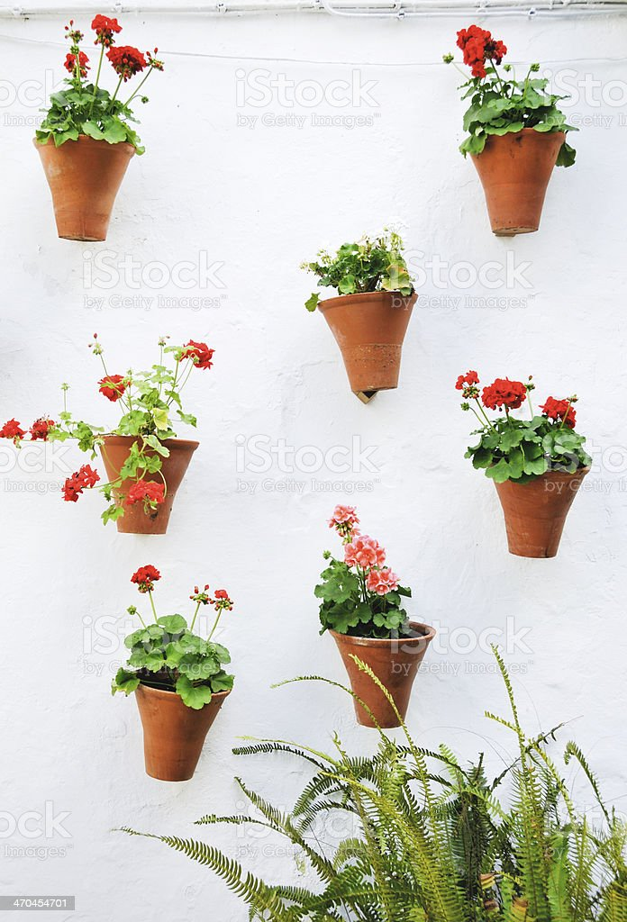 Decorated wall of a Spanish patio royalty-free stock photo