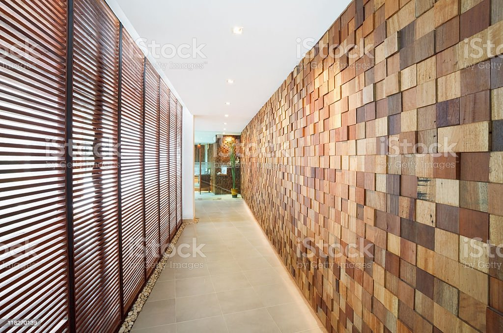 decorated wall to spa room stock photo