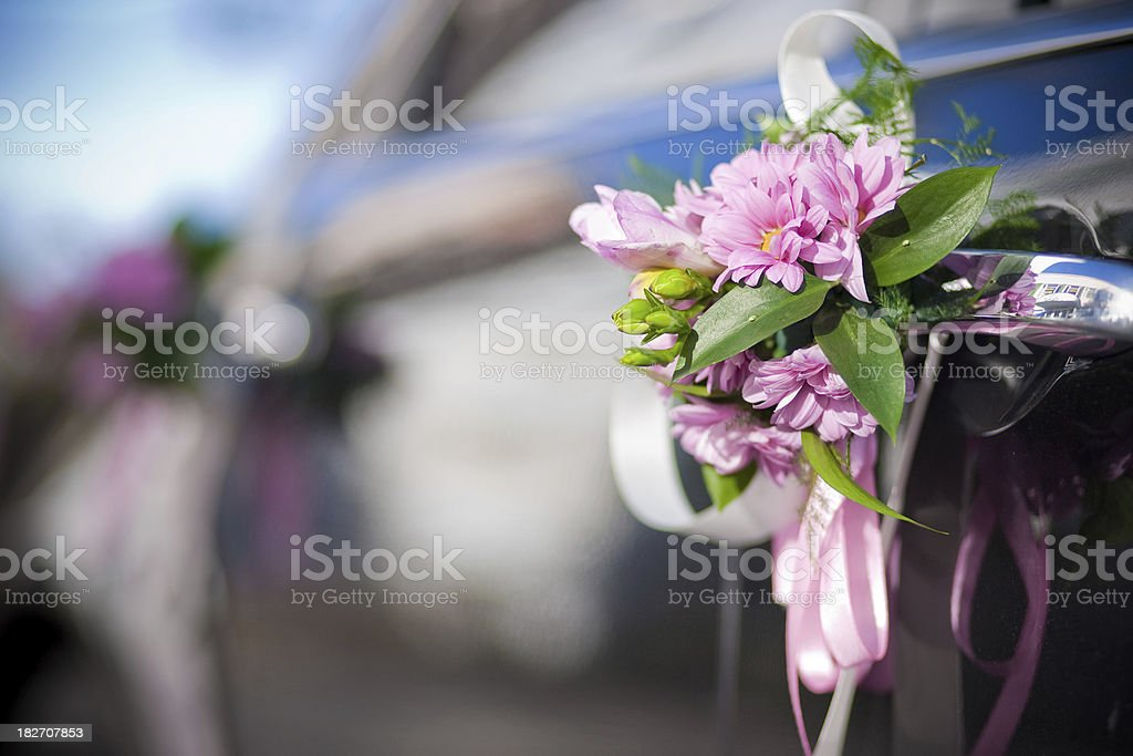 Decorated Wedding Car royalty-free stock photo