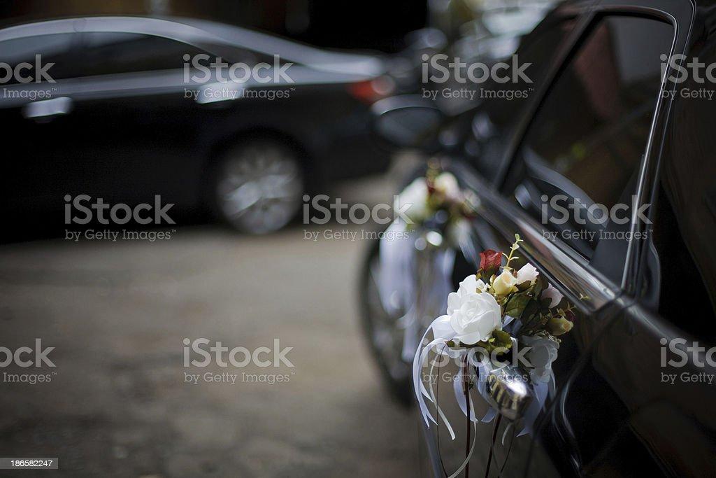 Decorated Wedding Car royalty-free stock photo