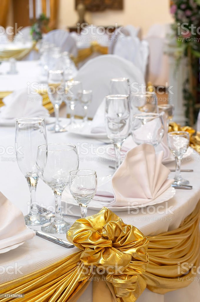 Decorated  Wedding Table royalty-free stock photo