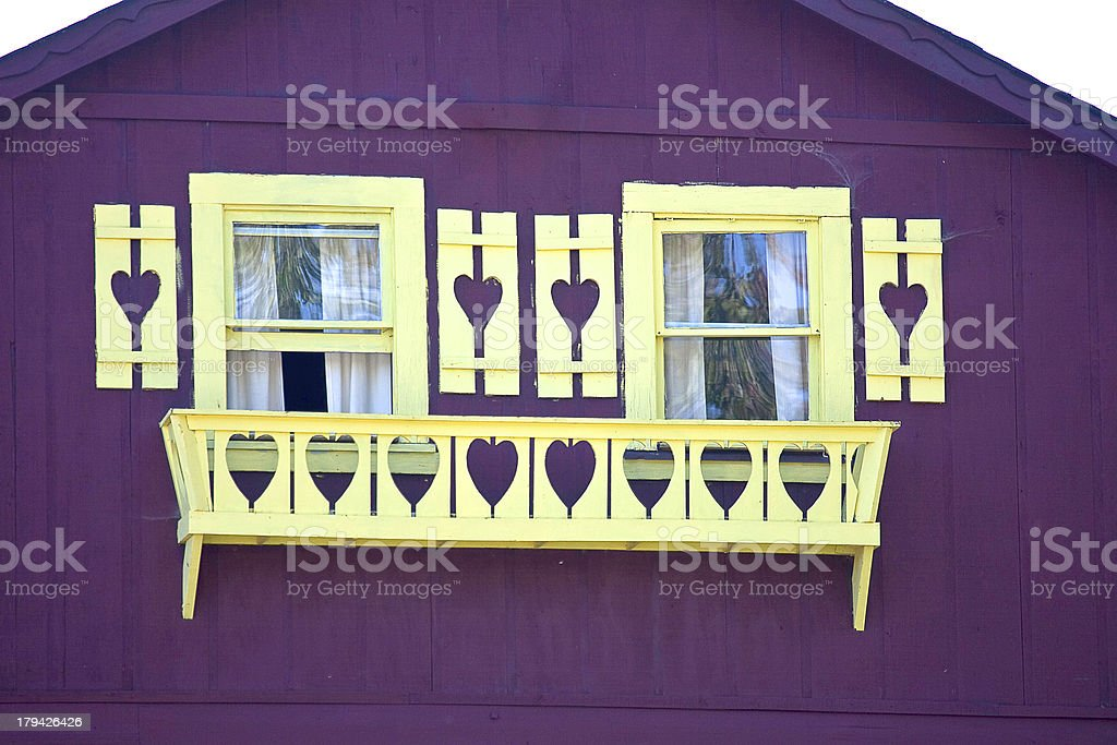 Decorated windows stock photo