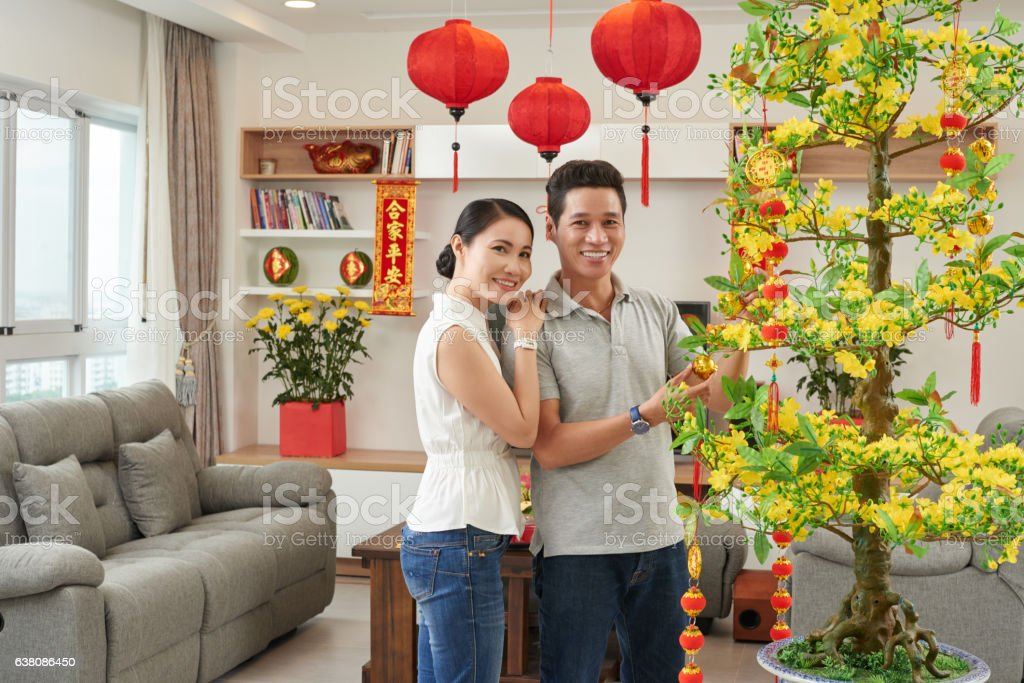 Decorating apartment stock photo