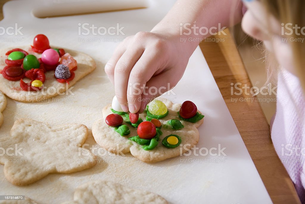 Decorating Cookies royalty-free stock photo