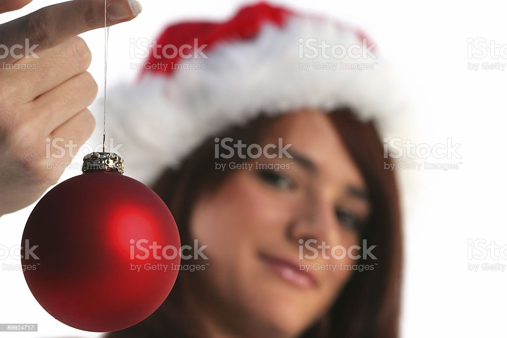 Decorating for christmas stock photo