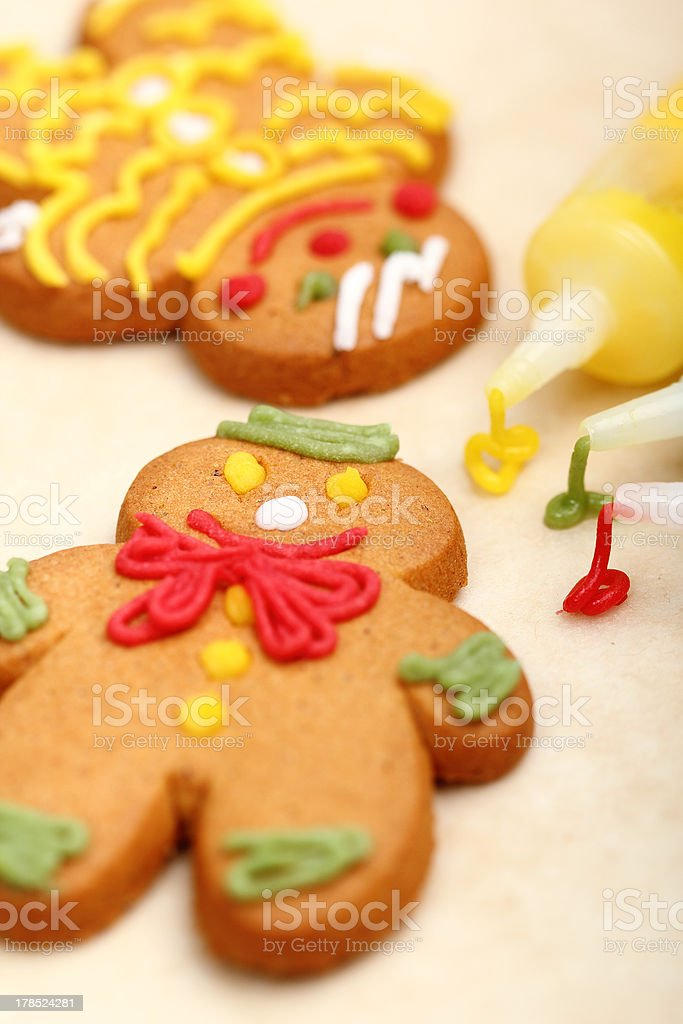 Decorating Gingerbread Cookies royalty-free stock photo