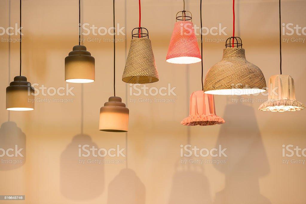 Decorating  lantern lamps stock photo