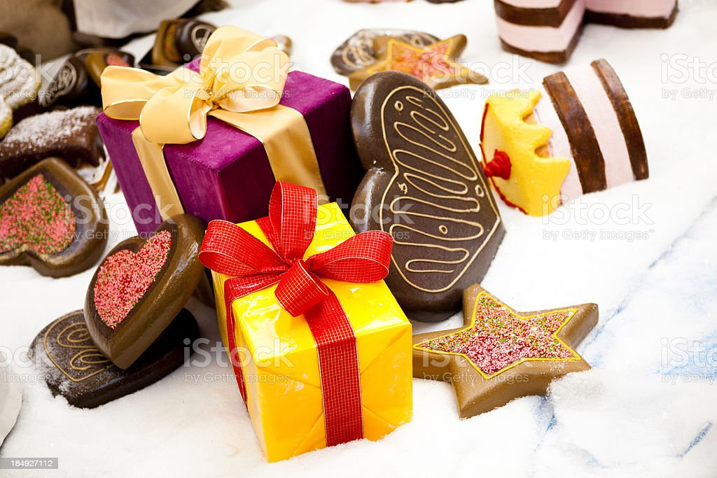 decoration and two gifts XXXL royalty-free stock photo