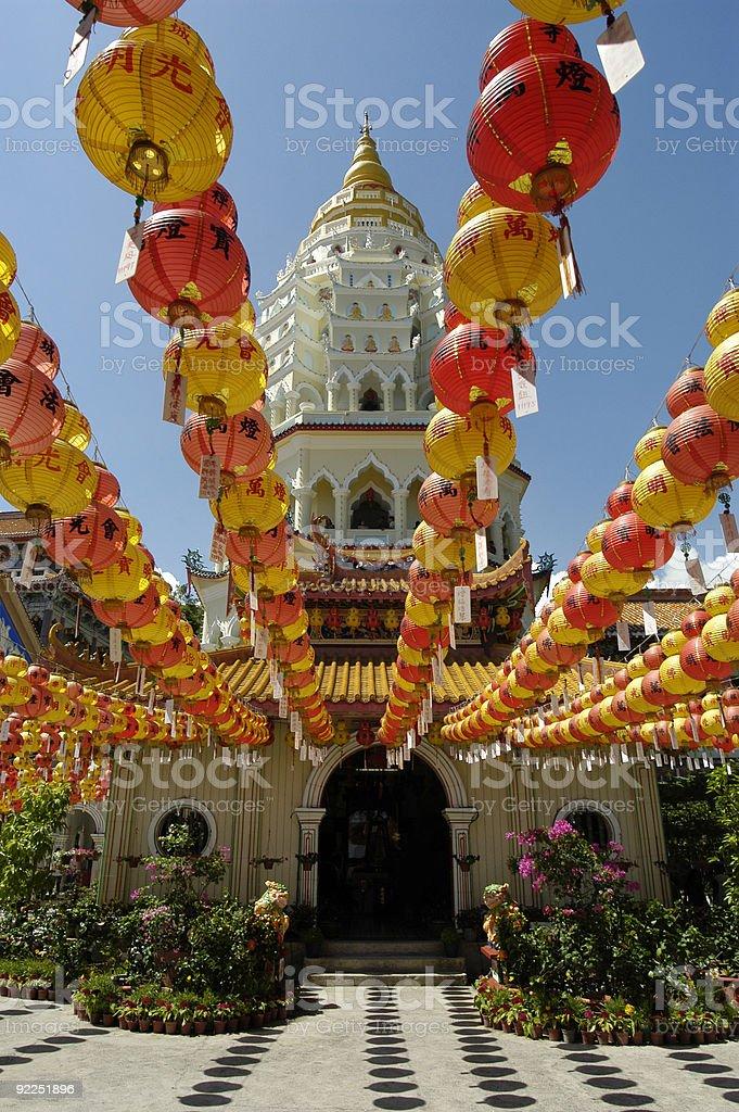 Decoration at the Kek Lok Si Temple, Malaysia stock photo