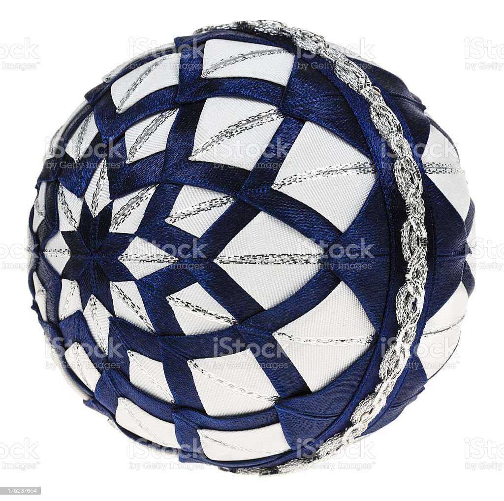 Decoration ball (patchwork) with clipping path stock photo