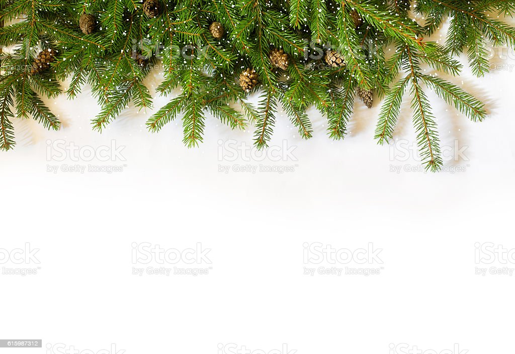 Decoration Christmas tree on white background stock photo