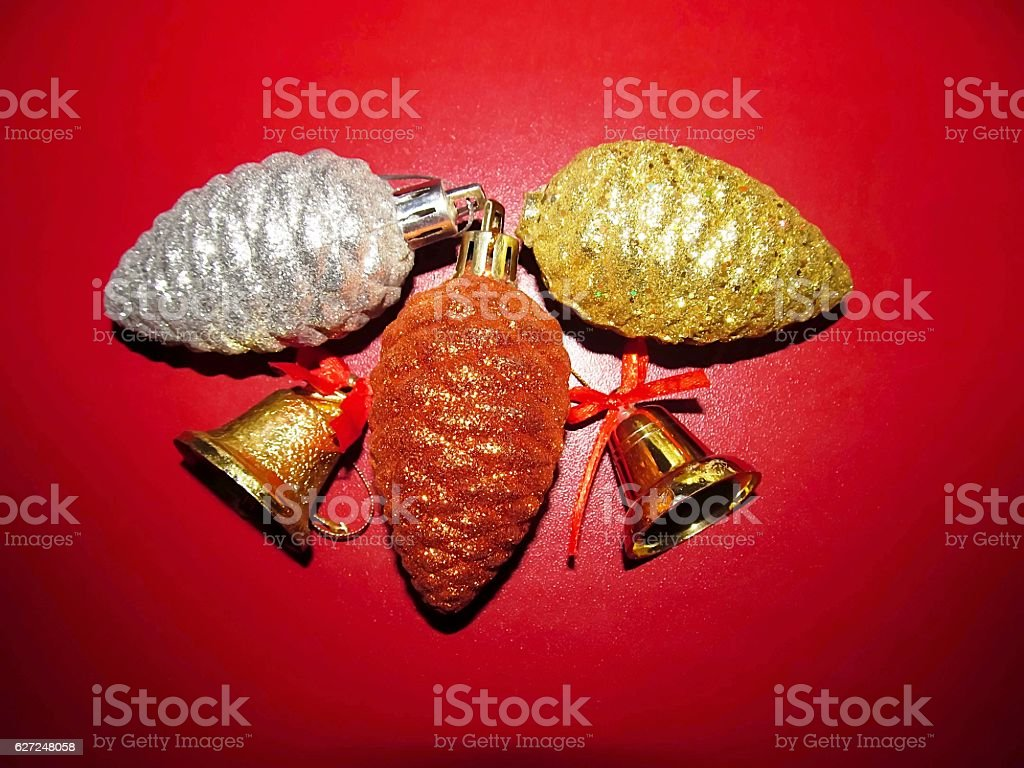 decoration for holydays with bells stock photo
