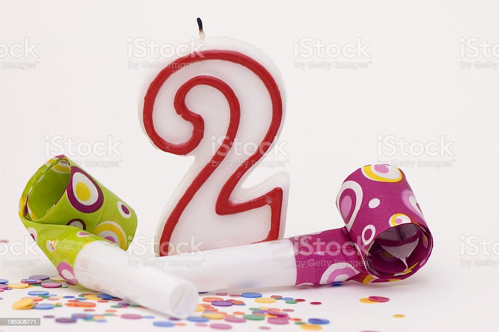 Decoration For Second Birthday Party royalty-free stock photo