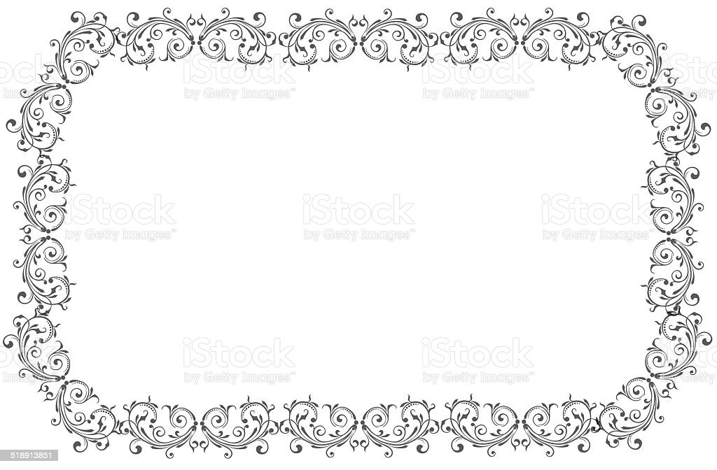 Decoration frame stock photo