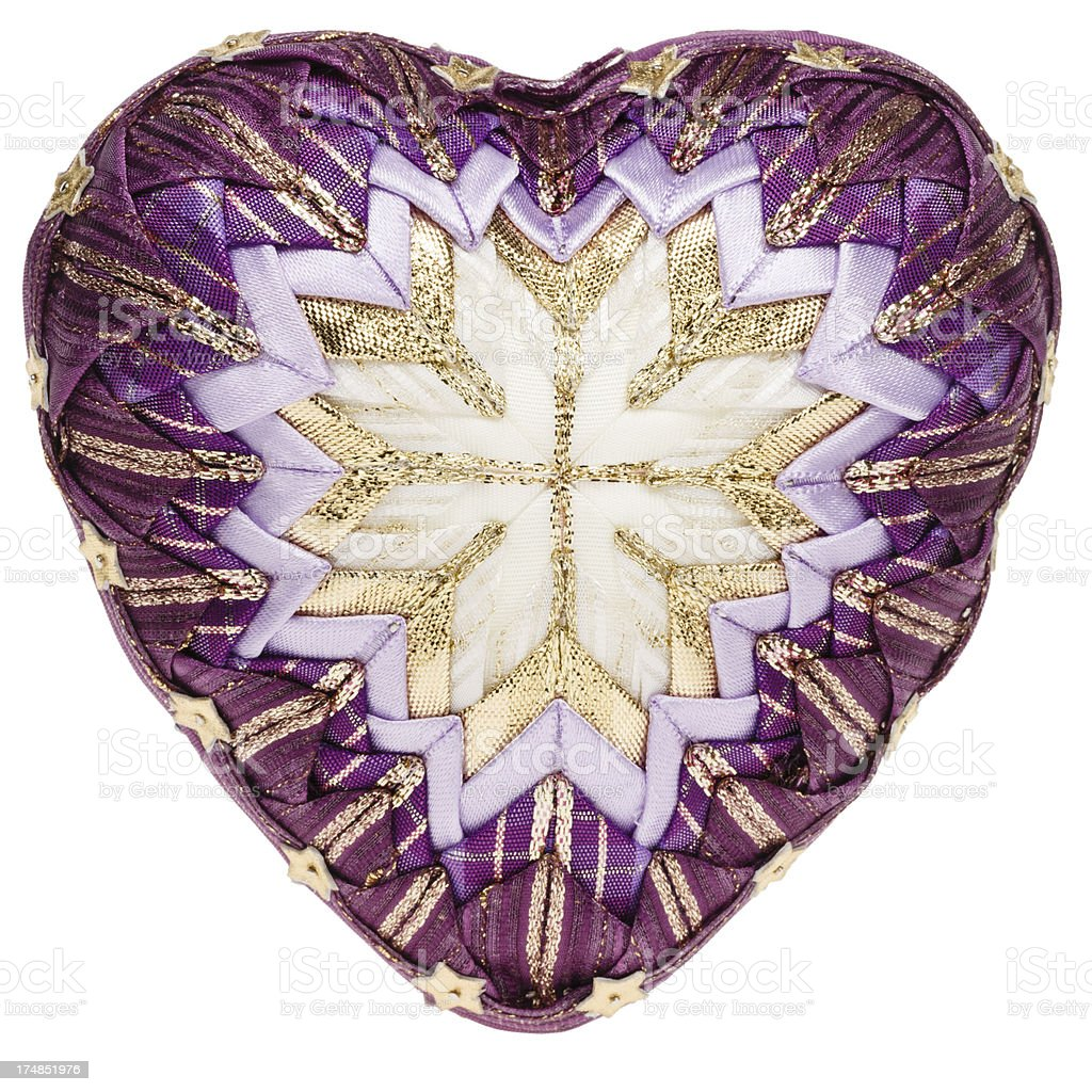 Decoration heart (patchwork) - front view royalty-free stock photo