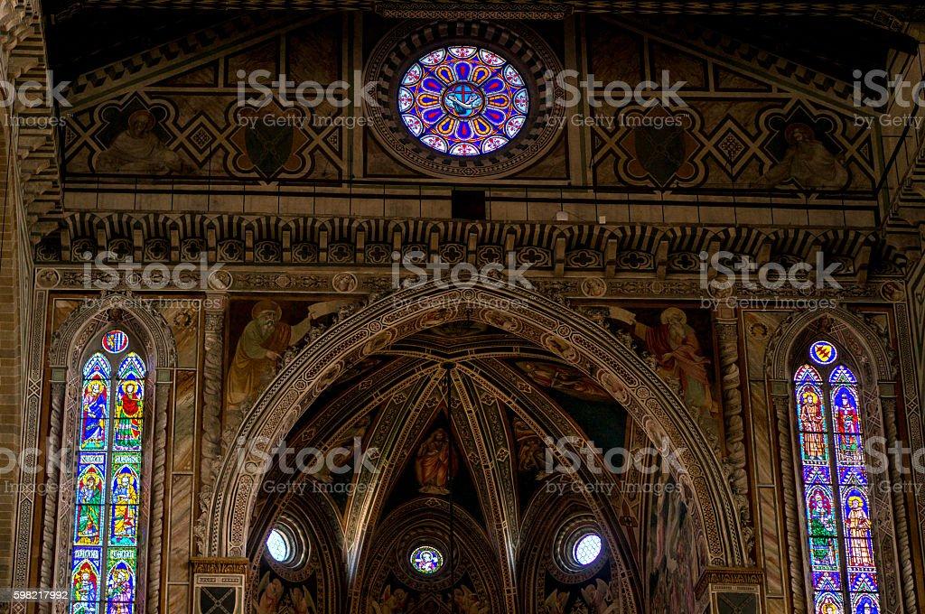Decoration in Basilica of Santa Croce stock photo