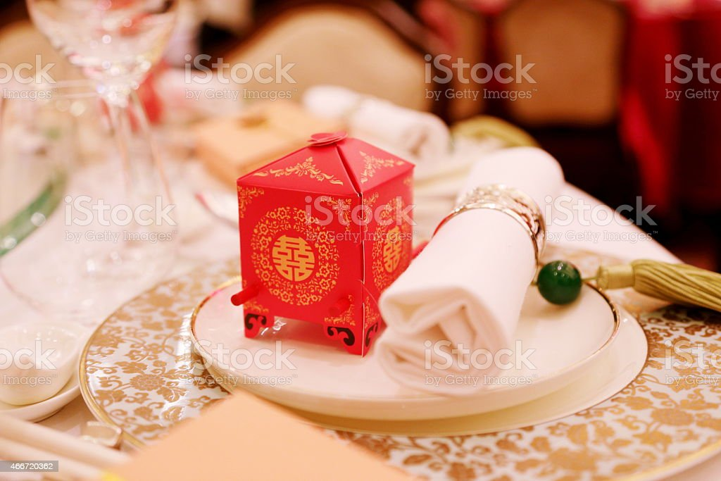 Decoration in Chinese Wedding stock photo