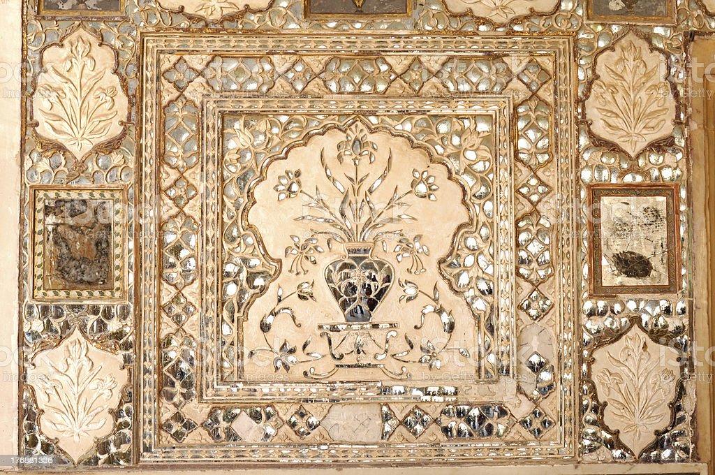 Decoration in Jaigarh Fort near Jaipur royalty-free stock photo