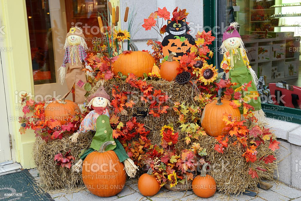 Decoration in Mont Tremblant resort village stock photo