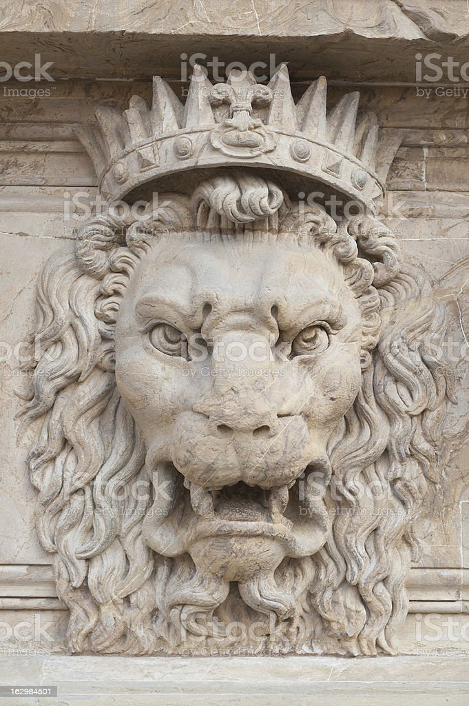 Decoration Lion's Head royalty-free stock photo