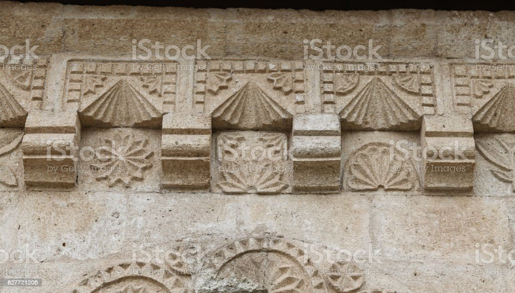 Decoration of a building in Avanos Town, Turkey stock photo