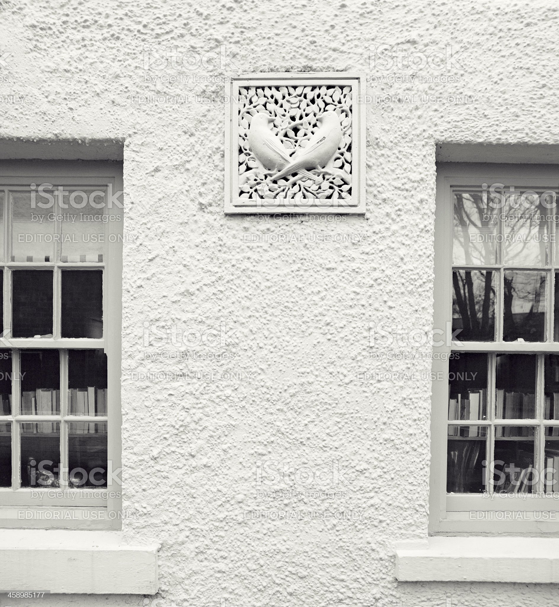 Decoration of an English pub  - detail royalty-free stock photo