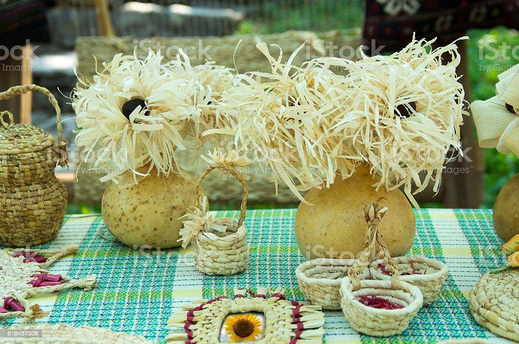 Decoration of maize husk. stock photo