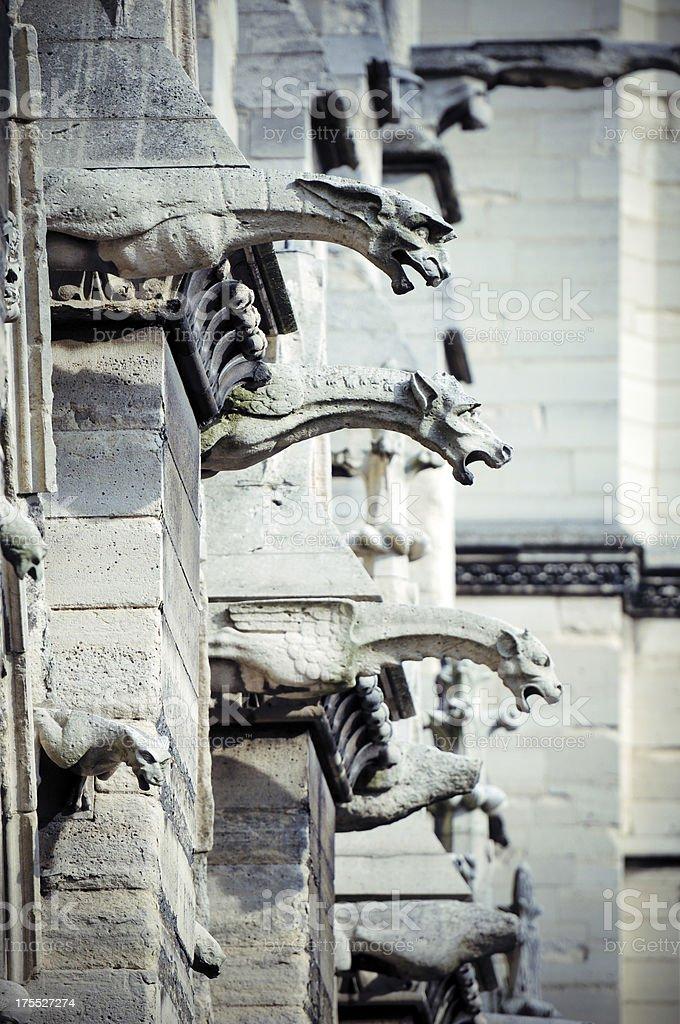 Decoration of Notre Dame - XLarge stock photo