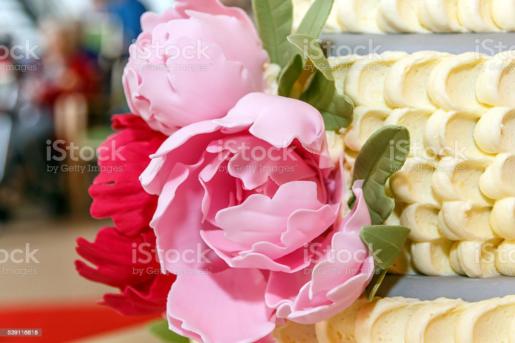 Decoration of roses stock photo