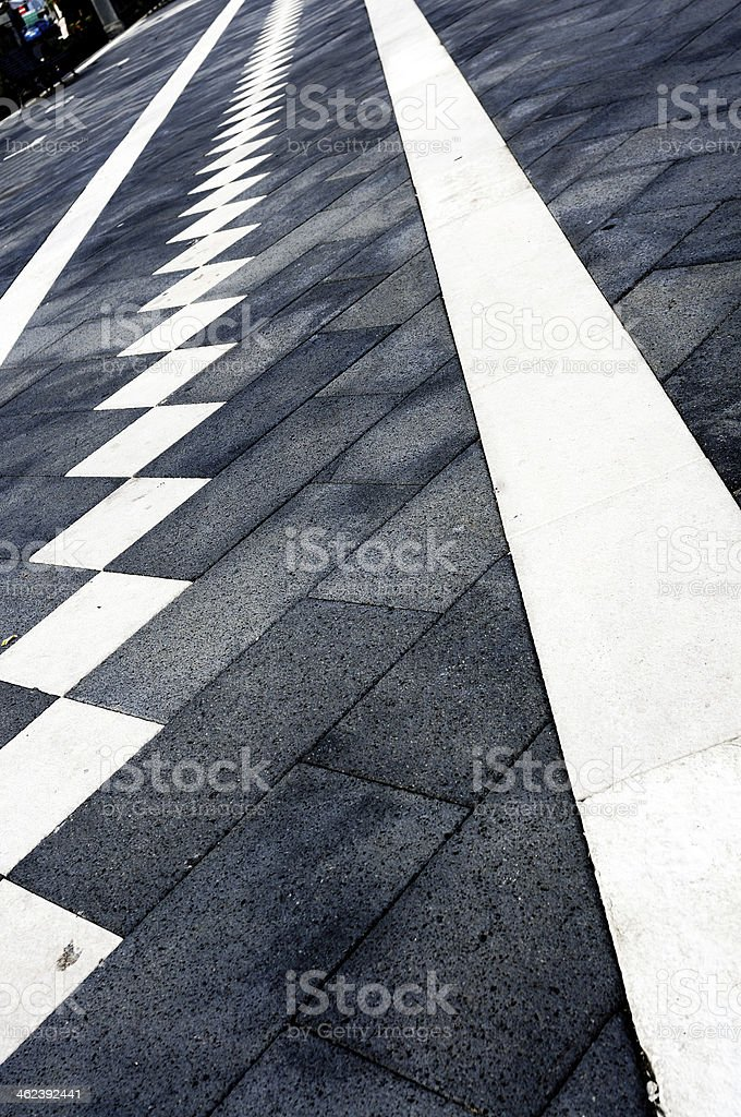 decoration of sidewalk stock photo