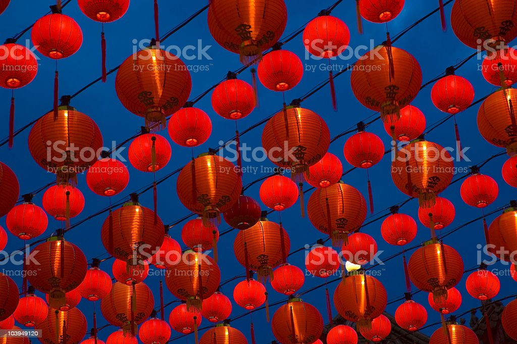 decoration traditional lantern stock photo