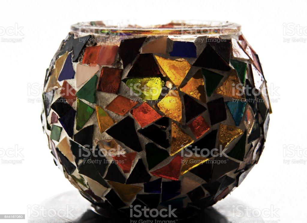 Decoration vase with mosaic stock photo