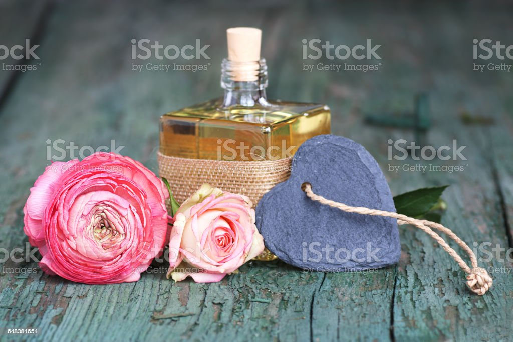Decoration with a scent for mothers day stock photo
