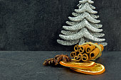 Decoration with silver Christmas Tree