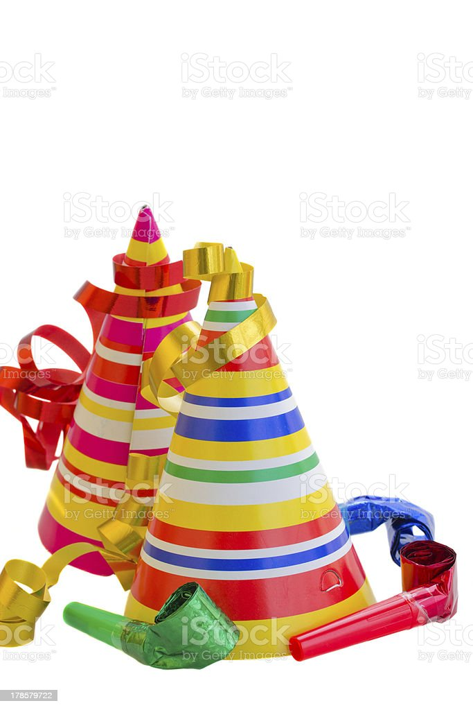 Decorations for birthday party royalty-free stock photo