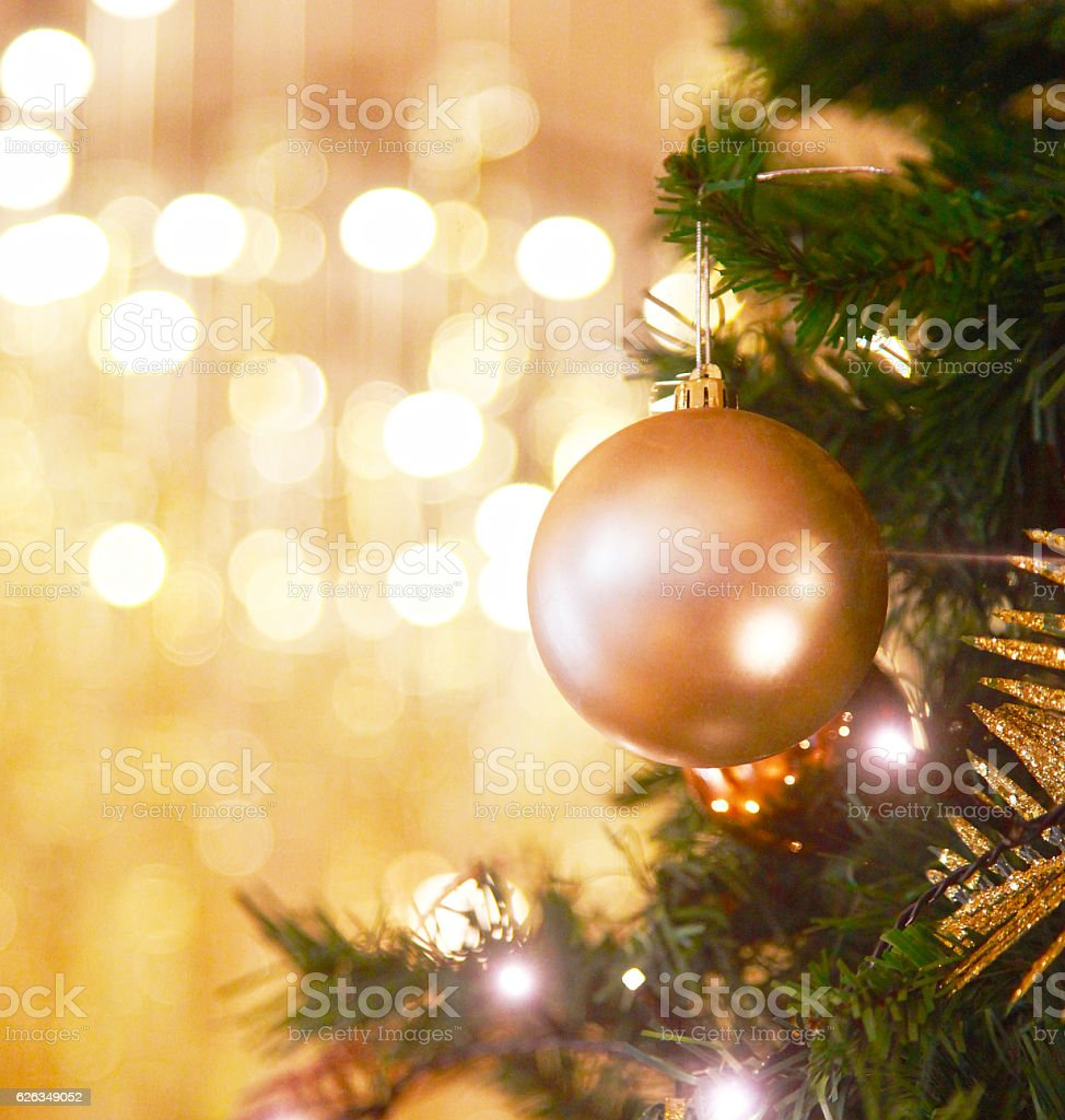 Decorations for Christmas trees stock photo