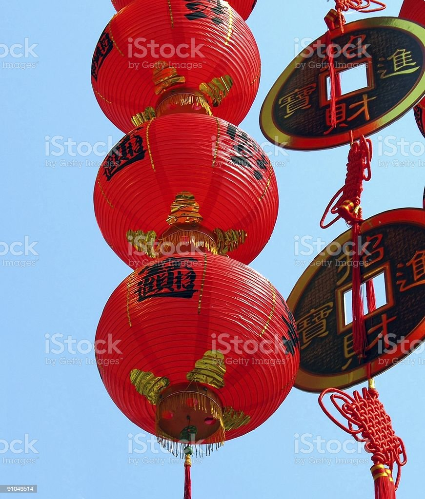 Decorations for the Chinese New Year royalty-free stock photo
